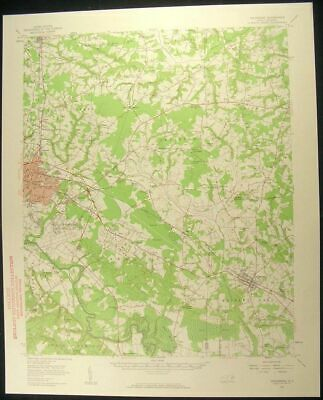 Goldsboro North Carolina La Grange 1958 vintage USGS original Topo chart map