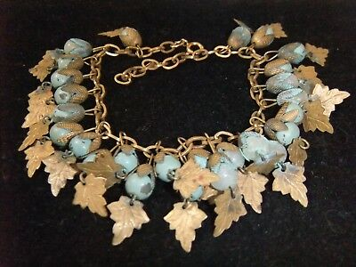 Unique Eye Catching Antique Vintage Art Nouveau Charm Bracelet Must See!!!