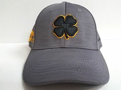 separation shoes 9420a 3bb49 Iowa Hawkeyes Black Clover Cap Lucky Dynamic Heather Stretch Golf Hat NCAA