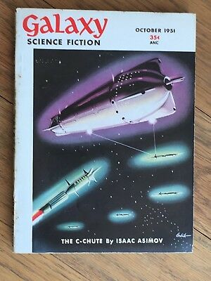 Galaxy - US Digest pulp vintage classic SF - October 1951 - Isaac Asimov etc