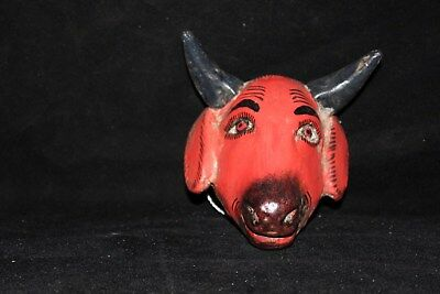 020 MINI GOAT MEXICAN WOODEN MASK miniature chivo wall hanging decor home WOOD