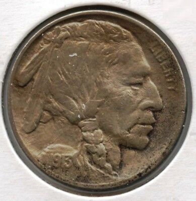 1913 Buffalo Nickel - Type 1 - Philadelphia Mint - Indian Head AT429