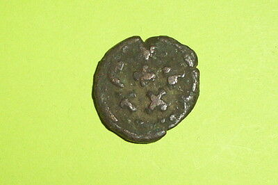 CONSTANS 641-668 AD Ancient BYZANTINE COIN rare Carthage mint Christian cross ae