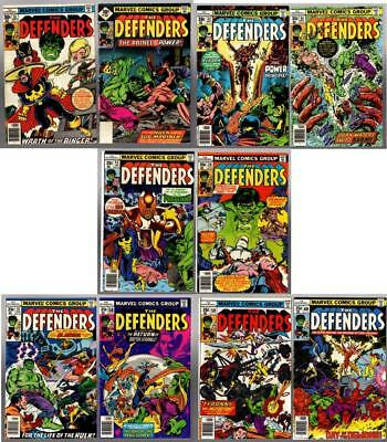 THE DEFENDERS #51-60, 2 signed by Michael Golden