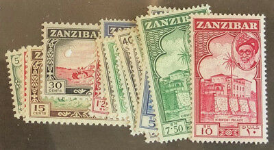 ZANZIBAR  249 - 263 Very  Nice  Mint  Light  Hinged  Set  UPTOWN  pd 6