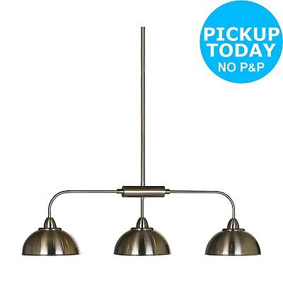 Argos Home Clancy 3 Light Bar Pendant - Nickel Effect