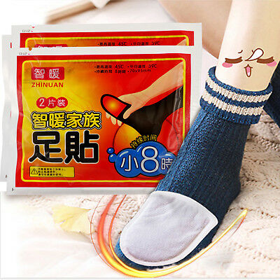 5/10 Pairs Adhesive Foot Warmer Pad Warm Heat Patch Winter Sports Outdoor Insole