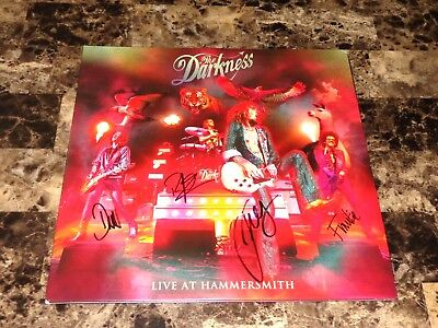 The Darkness Signed Live At Hammersmith Record Justin Dan Hawkins Frankie Rufus