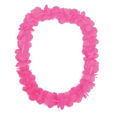 Hawaiian Leis. Pink (new Supplier) - Leis Fancy Dress Flower Accessories