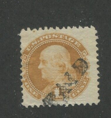 1869 US Stamp #112 1c Used Average Paid Cancel G. Grill Catalogue Value