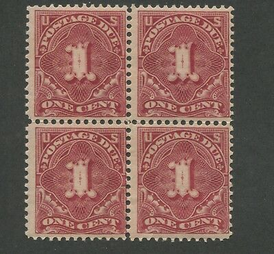 1895 Due Stamp #J38 Mint Never Hinged Fine Block of 4