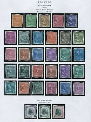 1938 Stamps #803-834 Mint Very Fine Glazed Gum Presidential Issue Set