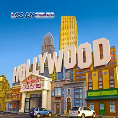 Hollywood Los Angeles Foto Magnet Epoxid Amerika USA Souvenir,8x8 cm