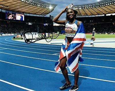 Dina ASHER-SMITH British Sprinter Autograph Signed 10x8 Photo 3 AFTAL COA