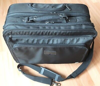 Piloten Koffer, Trolley, Business, Manager Cabin Case, anthrazit/schwarz.
