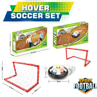 LED Air Power Training Ball Soccer Football Goal Set Hover Ball With 2 Gates NEW