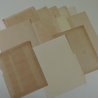12 sheets genuine reclaimed antique plain paper , good age toning & foxing A4