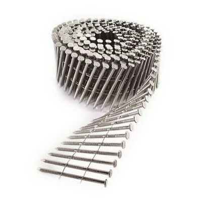 """Simpson Strong-Tie S12A200PNB 2"""" Stainless 15&deg coil ring shank nails 3600ct"""