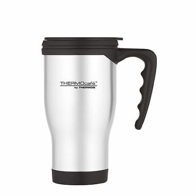 Thermos Thermocafe 400ml Silver Insulated Thermal Camping Hiking Travel Mug Cup