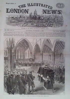 1869 Print The Funeral Of Earl Of Derby In Knowsley Church