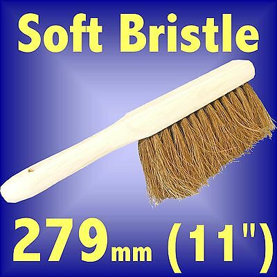 Silverline Soft Coco Bristle Hand Brush 280mm 11 hand held fireplace sweep