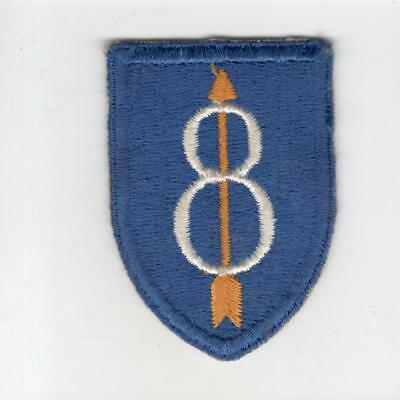 WW 2 US Army 8th Infantry Division Flat Top Patch Inv# G215