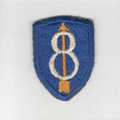 German Made US Army 8th Infantry Division Patch Inv# G217
