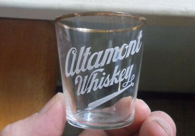 Altamont Whiskey Pre Pro Etched Shot Glass With Gold Trim Matthews Baltimore,md