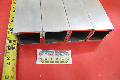 """4 Pieces 1-1/2""""x 1-1/2""""x 1/8"""" Wall 36"""" Long ALUMINUM SQUARE TUBE 6063 T52"""