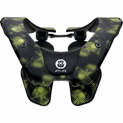 2019 Atlas Air Neck Brace Motocross Mx Adult - Virus Black Green Enduro New