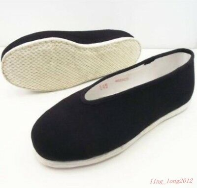 Mens Slippers Hot Kung Fu Vintage Shaolin Cloth Shoes Causal Loafter Size 38-47