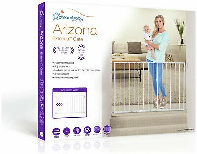 Dreambaby Arizona Extenda Gate - White