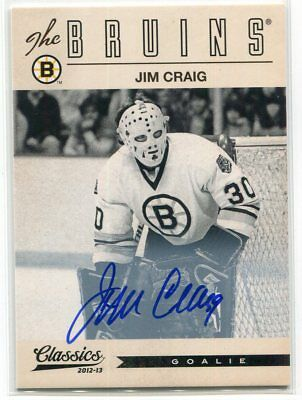 2012-13 Classics Signatures Autographs 77 Jim Craig Auto 1980 US Miracle on Ice