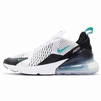 NIKE Kid's Air Max 270 GS, White/Dusty Cactus-Black, Youth Size 6