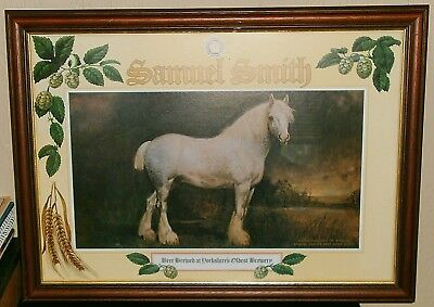 "Framed Shire Horse Picture ""Barrel"" Samuel Smith Beer Yorkshire Brewery England"