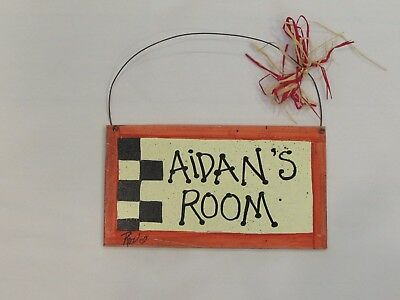 """""""Aidan"""" Personalized Name Door Hanging Sign For Child'S Room"""