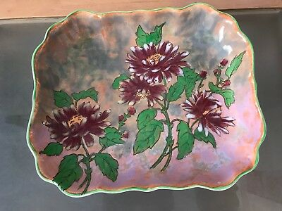 Early Large Royal Doulton Hand Painted Dish In The Chrysanthemum Pattern