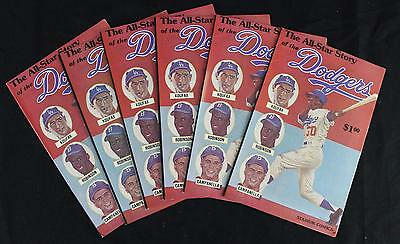 (6) 1979 All Star Story of The Dodgers Comic Books: Koufax Jackie Campanella+