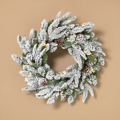 CHRISTMAS WREATH LIGHTED LED Garland, Urn Filler Real