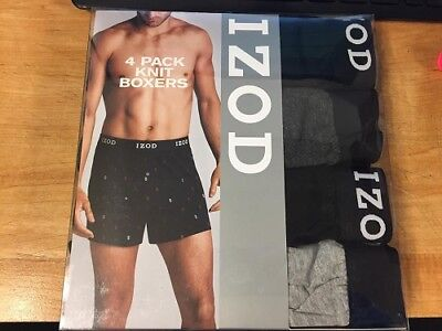 IZOD 4pk Knit Boxers, CHECK FOR COLOR & SIZE