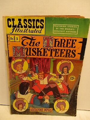 Classics Illustrated Comic Book No. 1 The Three Musketeers by Alexandre Dumas