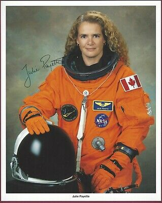 "Julie Payette, Canadian Astronaut, Signed 8"" x 10"" Photo, COA, UACC RD 036"
