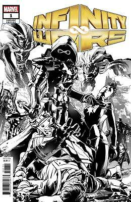 Infinity Wars #1 Variant Mike Deodato 2Nd Printing Black & White Sketch Thanos