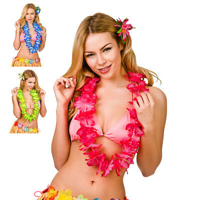 Deluxe Lei with Beads Large Hawaiian Luau Summer Beach Fancy Dress Accessory