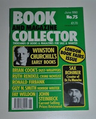 Book Collector June 1990 # 75 Churchill, Guy N. Smith, Sax Rohmer, Ruth Rendell