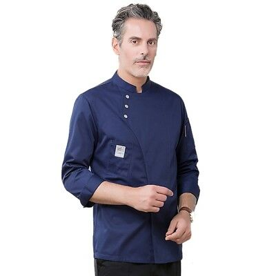 Fashion Unisex Quality Chef Jacket Long Sleeves With Pen Pockets Chef Wear Coat