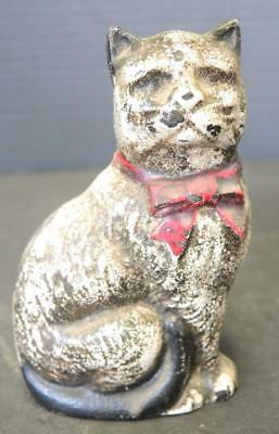 Vintage or Antique Cast Iron Figural Cat Penny Bank