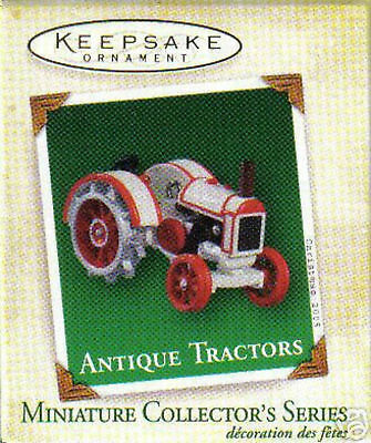 2005 Hallmark Miniature Ornament Antique Tractors 9Th In The Series !!!!