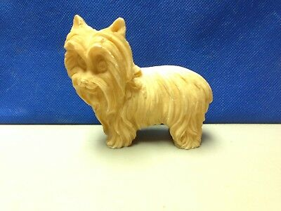 "Nice Vintage Sculptor A. Santini classic figure 3 1/2"" Terrier dog made in Italy"