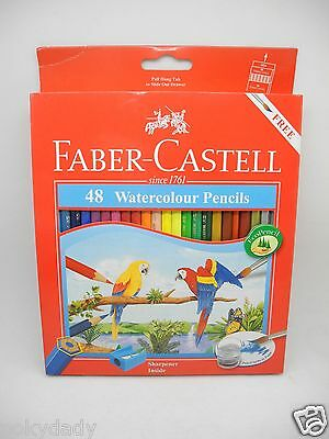 Brand New Faber-Castell 48 Watercolour Pencils free brush & pencil sharpener